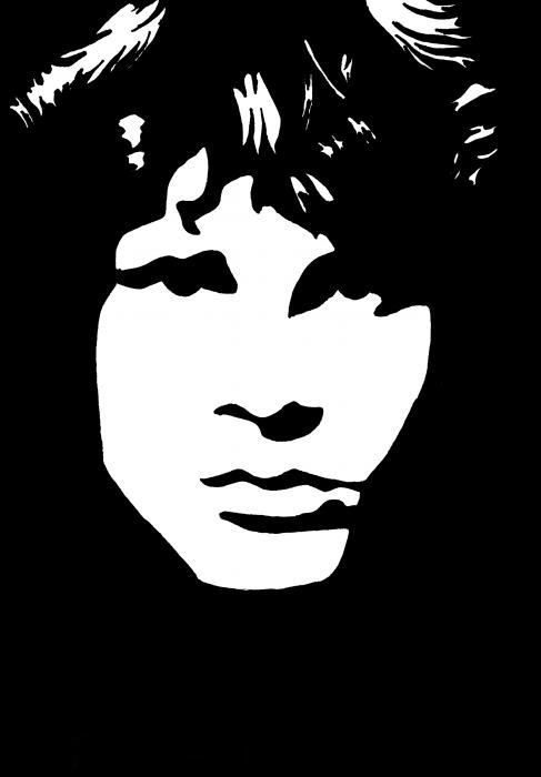 Jim Morrison  Print by Yael Rosen
