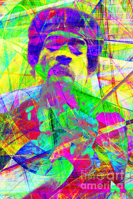 Jimi Hendrix 20130613 Print by Wingsdomain Art and Photography
