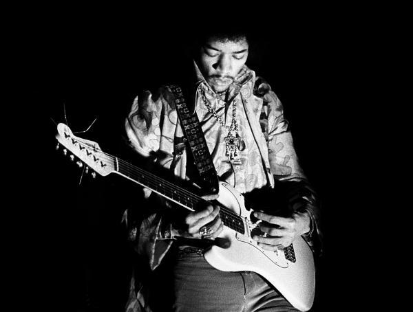 Jimi Hendrix Live 1967 Print by Chris Walter