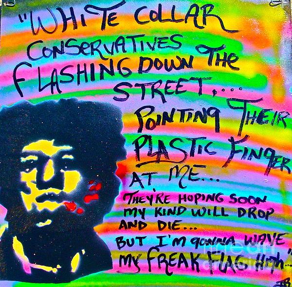 Jimi's Freak Flag Print by Tony B Conscious