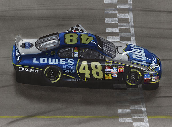 Jimmie Johnson Wins Print by Paul Kuras