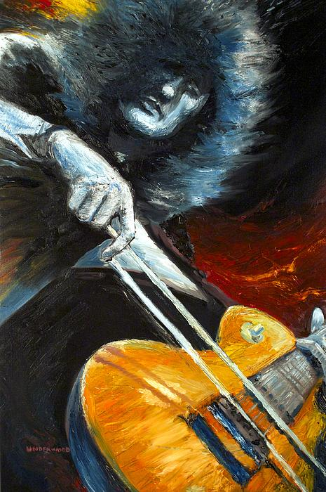 Jimmy Page Dazed And Confused Print by Mike Underwood