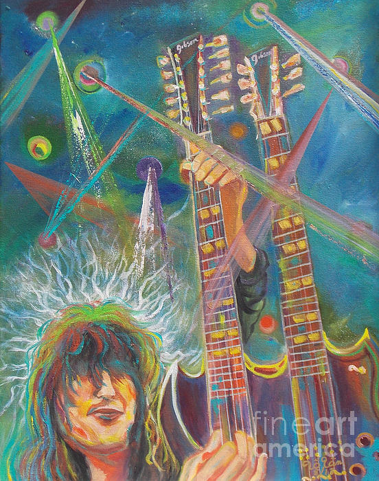 Jimmy Page Print by To-Tam Gerwe