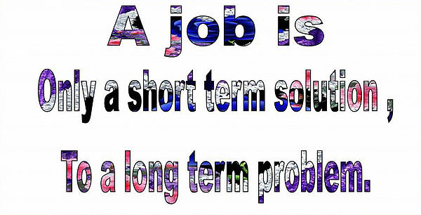 Short Term Solution : Job the short term solution print by sachin tarkas