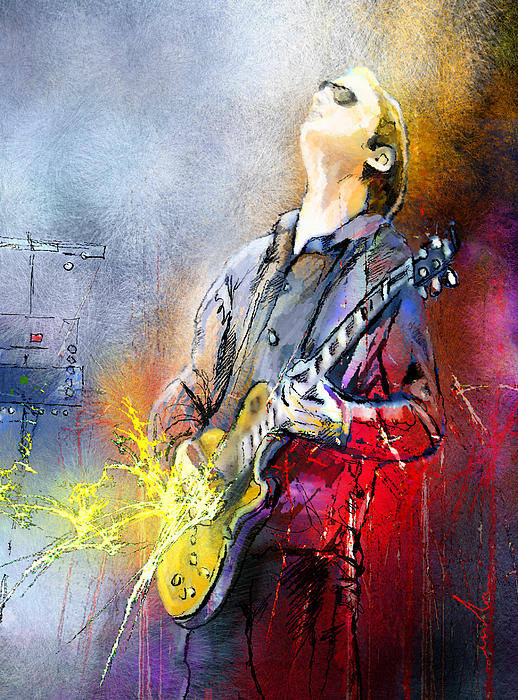 Joe Bonamassa 02 Print by Miki De Goodaboom
