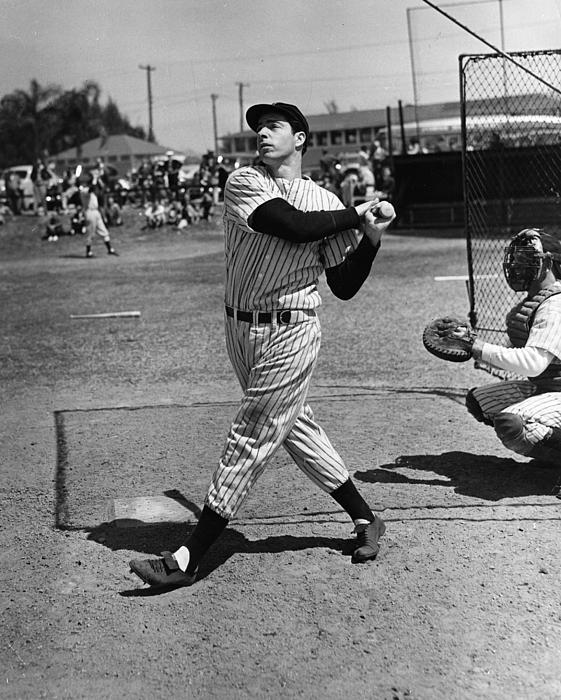 Joe Dimaggio Hits A Belter Print by Gianfranco Weiss