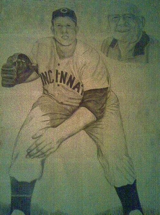 Joe Nuxhall Print by Christy Brammer