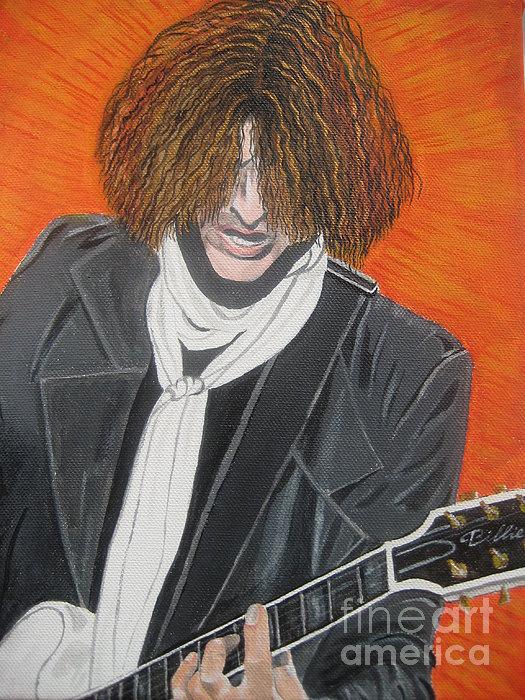 Joe Perry On Guitar Print by Jeepee Aero