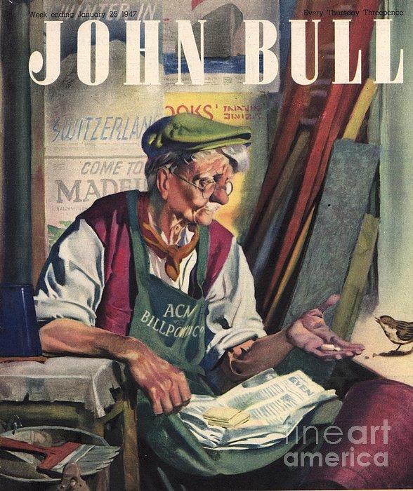 John Bull 1947 1940s Uk Birds Feeding Print by The Advertising Archives