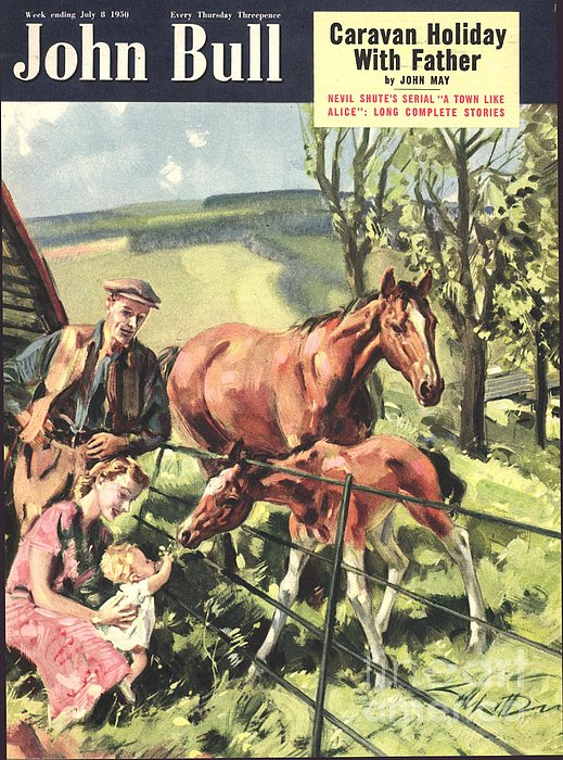 John Bull 1950 1950s Uk Horses Pets Print by The Advertising Archives