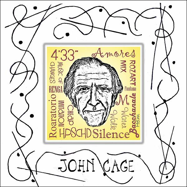 John Cage Print by Paul Helm