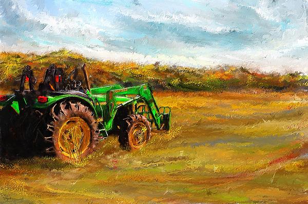 John Deere Sculpture : John deere tractor art by lourry legarde