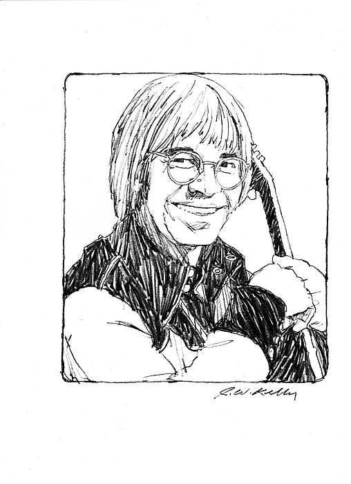 John Denver Print by J W Kelly
