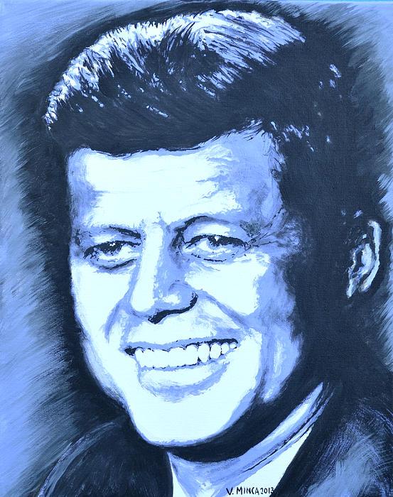 John F. Kennedy Print by Victor Minca