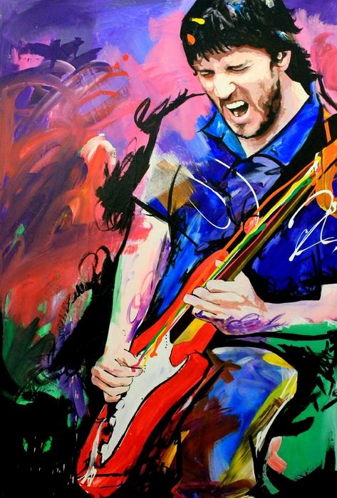 John Frusciante Print by Richard Day
