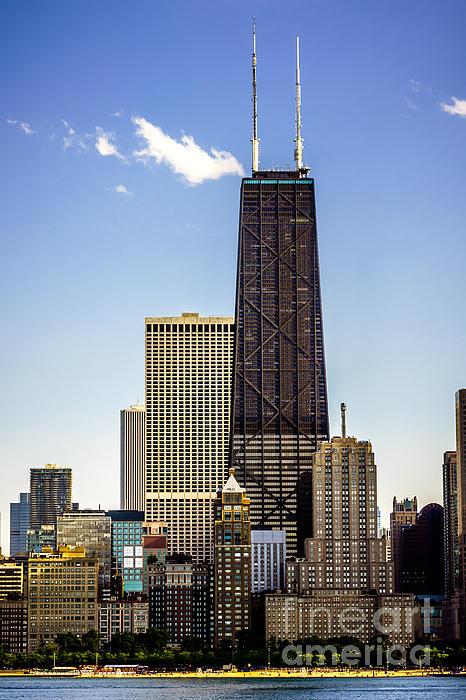 John Hancock Center Building In Chicago Print by Paul Velgos