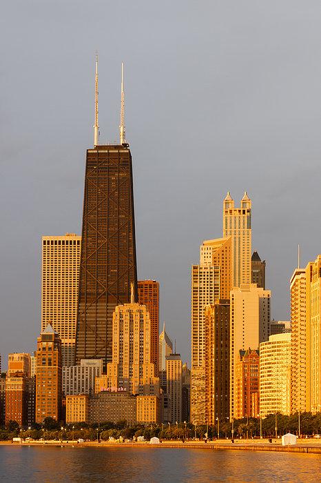 John Hancock Center Chicago Print by Adam Romanowicz