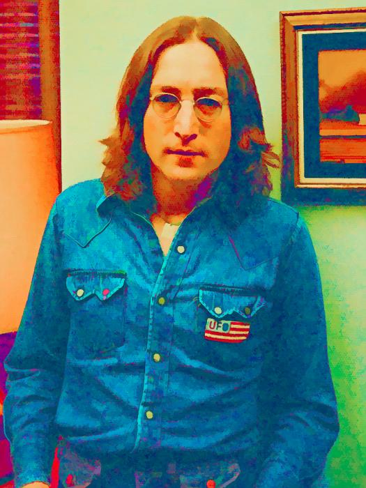 John Lennon 1975 Print by William Jobes