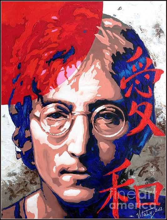 John Lennon - A Man Of Peace. The Number Three. Print by Vitaliy Shcherbak