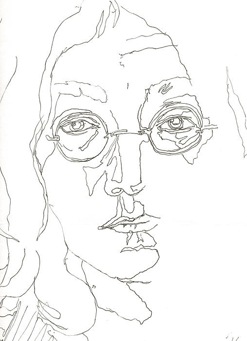 Line Drawing John Lennon : John lennon by nell stockdall