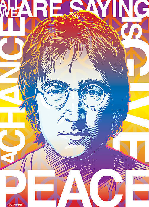 John Lennon Pop Art Print by Jim Zahniser