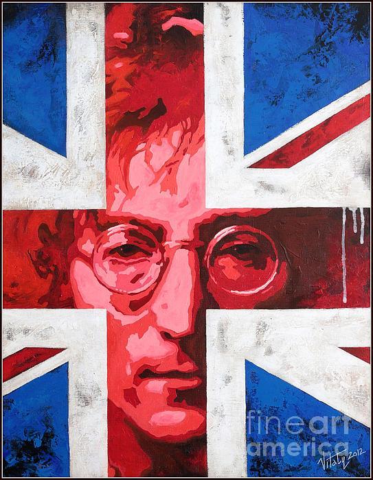 John Lennon -the Man Of Peace.the Number One Print by Vitaliy Shcherbak