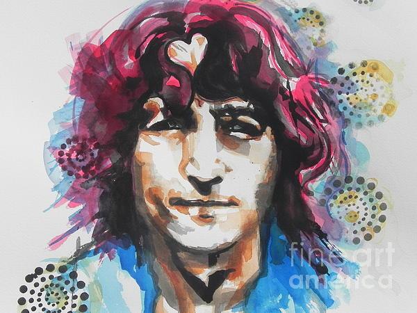 John Lennon..up Close Print by Chrisann Ellis