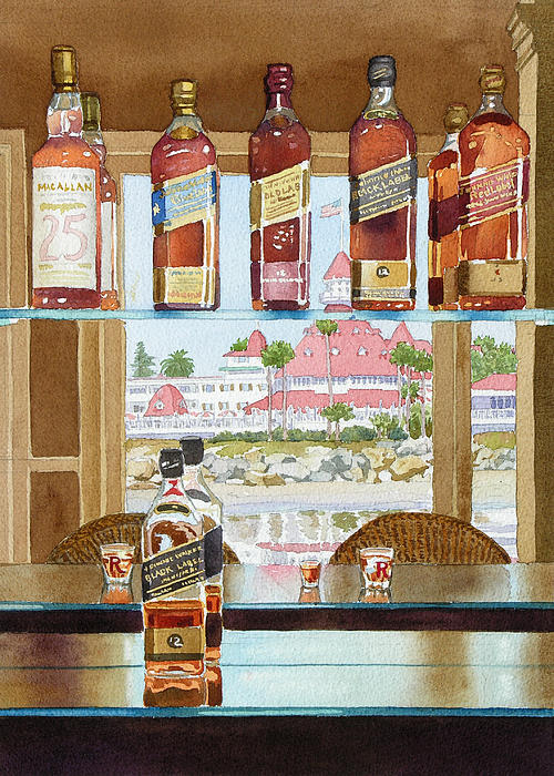 Johnnie Walker And Del Print by Mary Helmreich