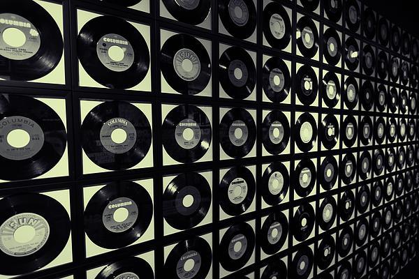 Johnny Cash Vinyl Records Print by Dan Sproul