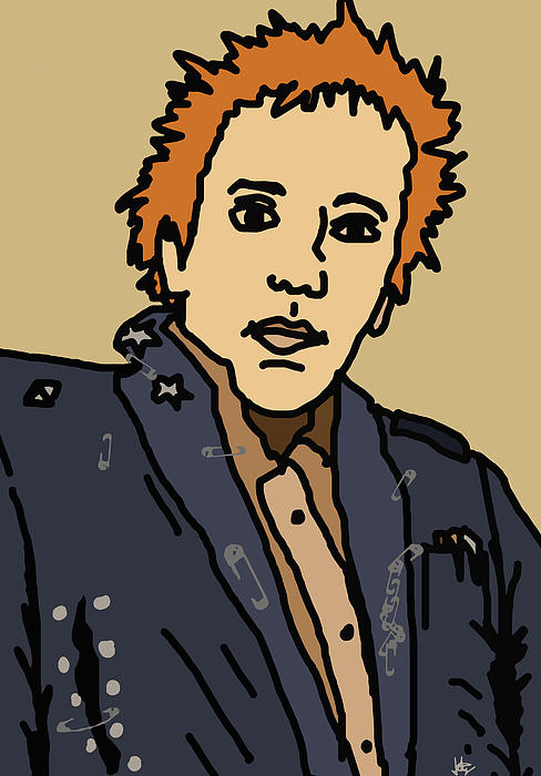 Johnny Rotten Print by Jera Sky