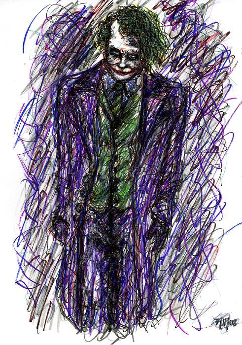 Joker - Standing Print by Rachel Scott