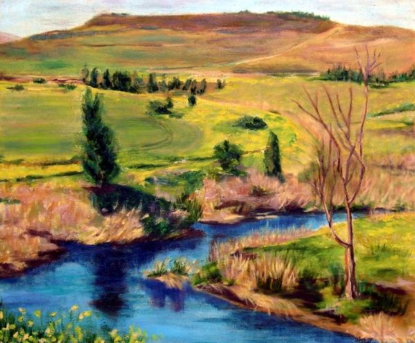 Jordan River In Israel Print by Hannah Baruchi