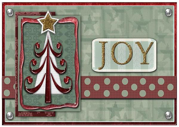Joyful Tree Card Print by Arline Wagner