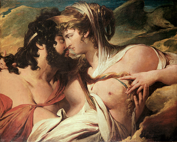 Jupiter And Juno On Mount Ida Print by James Barry