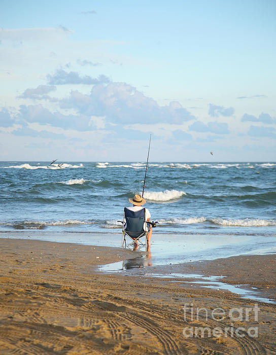 Just Relaxin And Fishin Print by Suzi Nelson