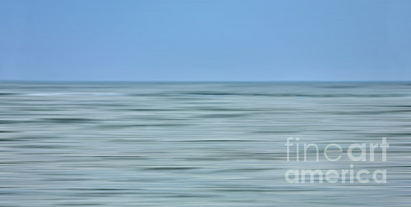 Just Sky Just Water - A Tranquil Moments Landscape Print by Dan Carmichael