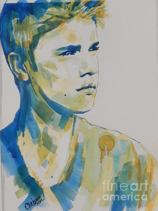 Justin Bieber Print by Chrisann Ellis