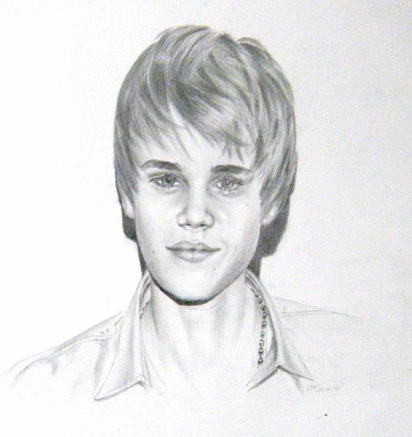 Justin Bieber Print by Lori Ippolito