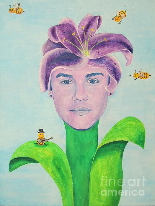 Justin Bieber Painting Print by Jeepee Aero