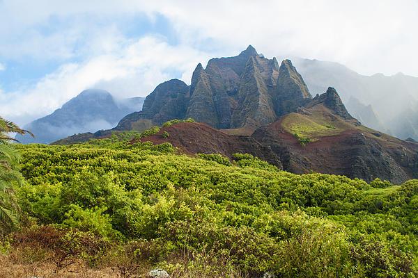 Kalalau Valley - Kauai Hawaii Print by Brian Harig