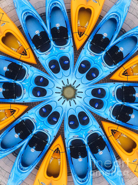 Kaleidoscope Canoes Print by Amy Cicconi