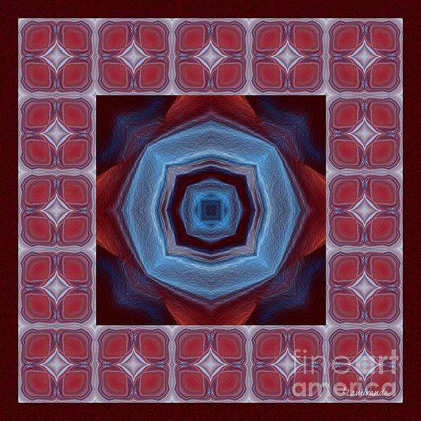 Kaleidoscope Combo 8 Print by Louise Lamirande