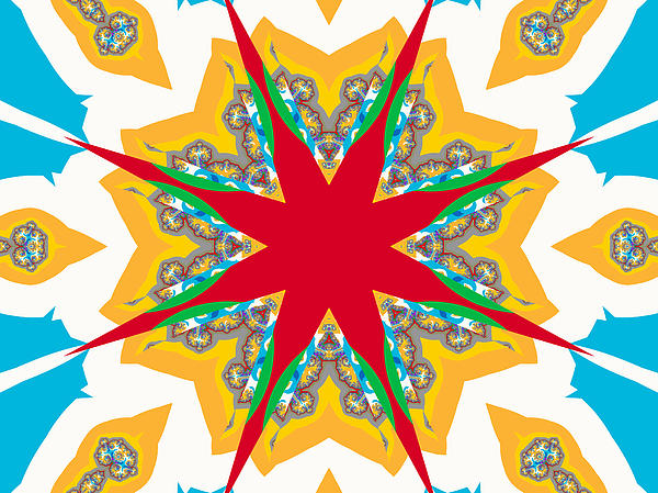 Kaleidoscope Fractal Print by Ester  Rogers
