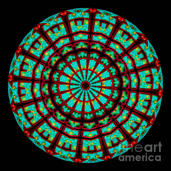 Kaleidoscope Of A Neon Sign Print by Amy Cicconi