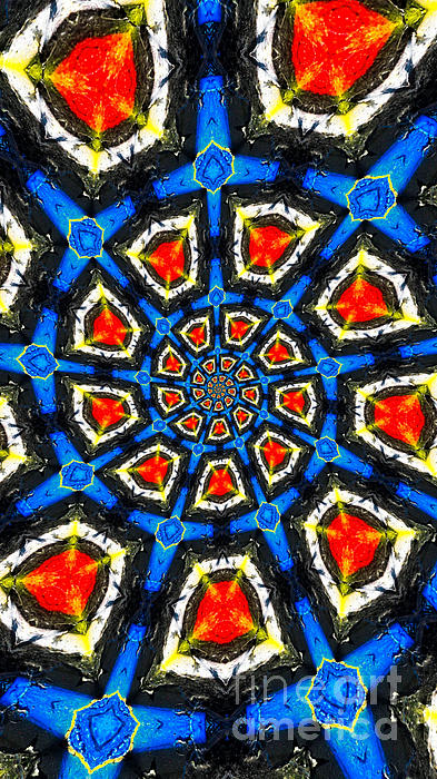Kaleidoscope Of Primary Colors Print by Amy Cicconi