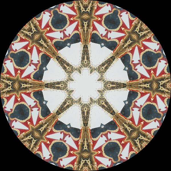 Kaleidoscope Wheel Print by Cathy Lindsey