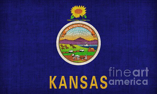 Kansas State Flag Print by Pixel Chimp