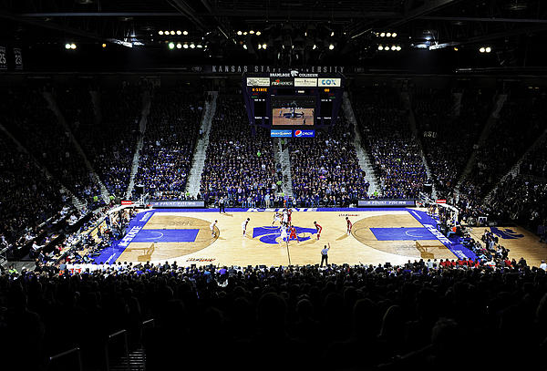 Kansas State Wildcats Fred Bramlage Coliseum Print by Replay Photos