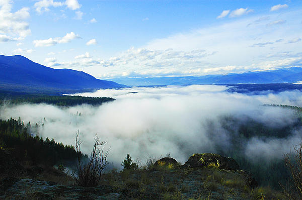 Katka Mountain Lookout Print by Annie Pflueger