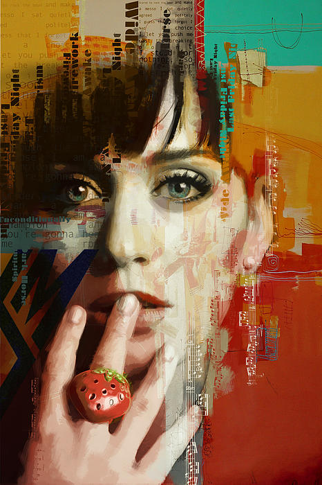 Katy Perry Print by Corporate Art Task Force